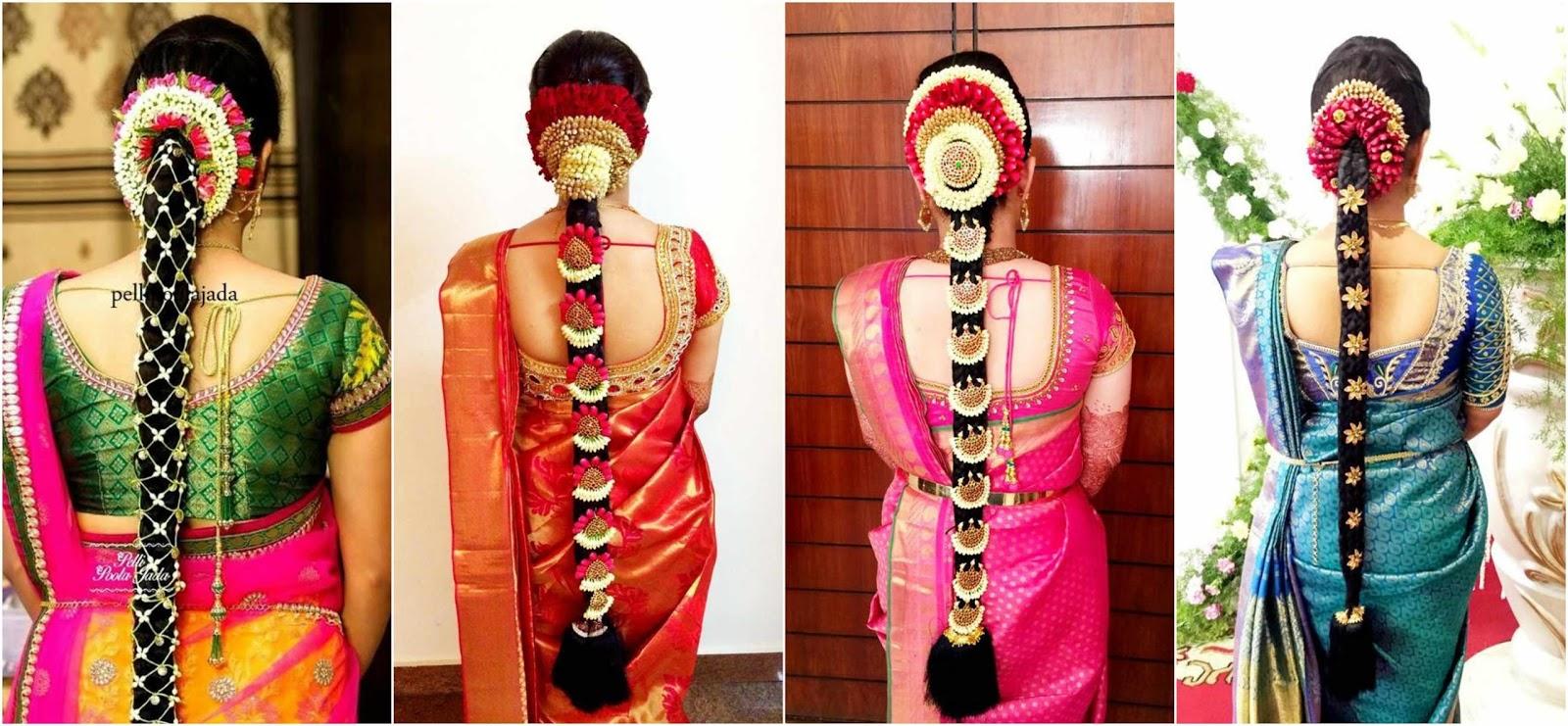 indian jadai hairstyle - satu huruf p