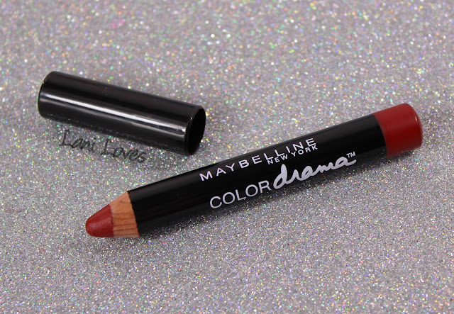Maybelline Color Drama Lip Pencils - Light It Up, Red Essential Swatches & Review