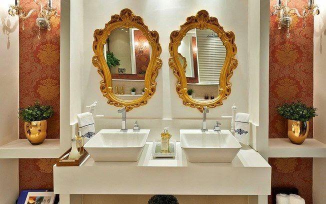 suite com espelho dorados