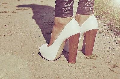 Zapatos blancos para adolescentes