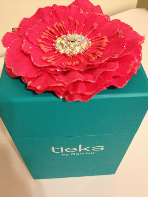 Tieks by Gavrielli Cobalt Blue flats and blue box with flower
