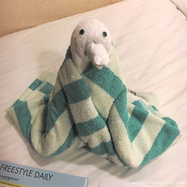 Towel Animals NCL New England Cruise Part 3 - Andrea Tiffany A Glimpse of Glam