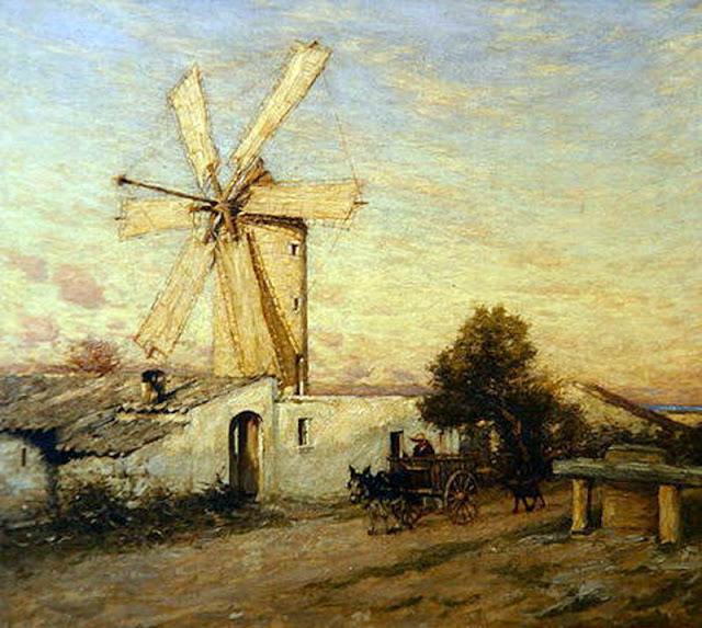 Henry Herbert, Mallorca en pintura, Molinos de Mallorca 1920, Mallorca pintada, Paisajes de Mallorca