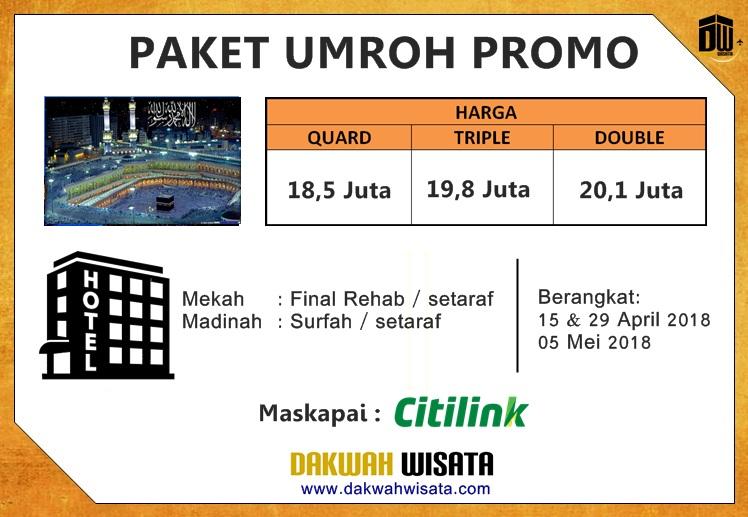 Paket Umroh Promo 2018