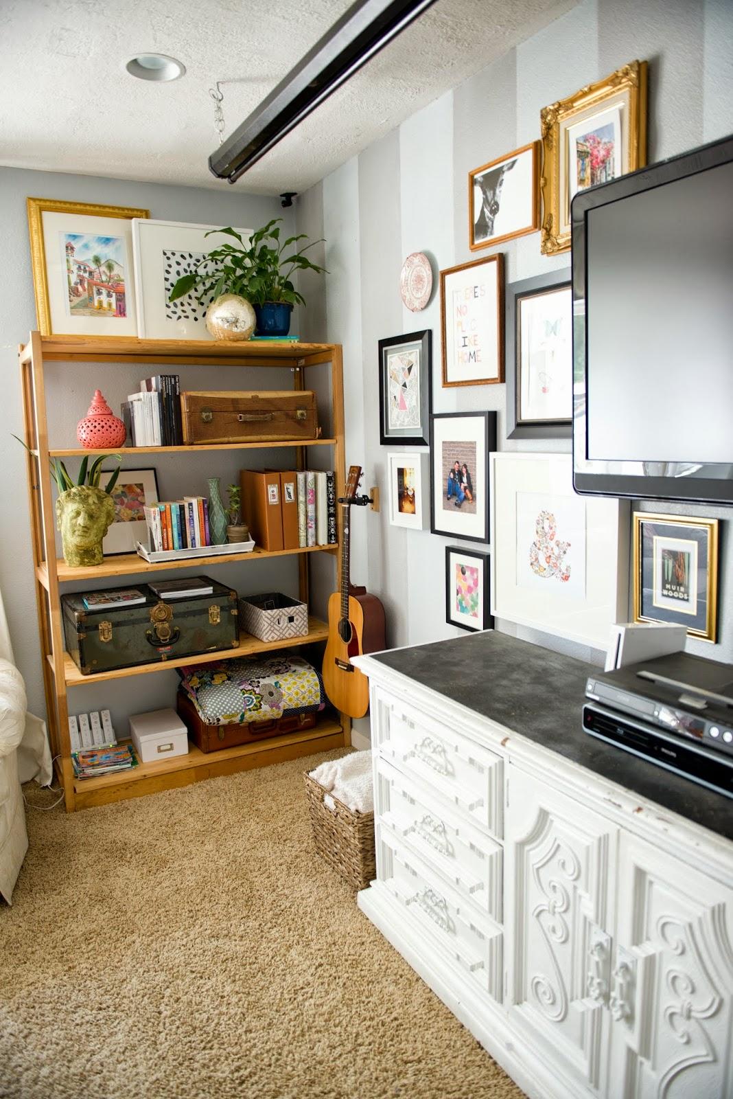 Domestic Fashionista: Decorating Around The TV And A New Shelf