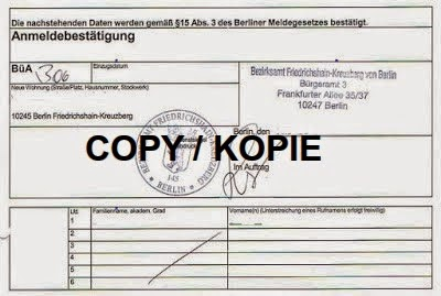 Registration Proof Berlin