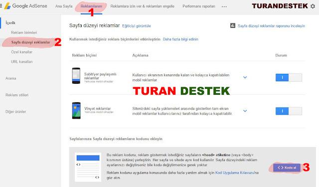 Blogger Mobil Adsense Ekleme - Adsense Sayfa Düzeyi Reklamlar