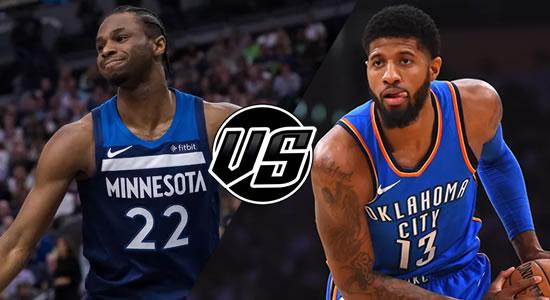 Live Streaming List: Minnesota Timberwolves vs Oklahoma City Thunder 2018-2019 NBA Season