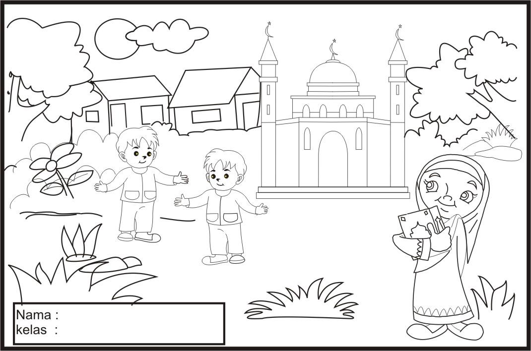 Gambar Mewanai Anak Muslim