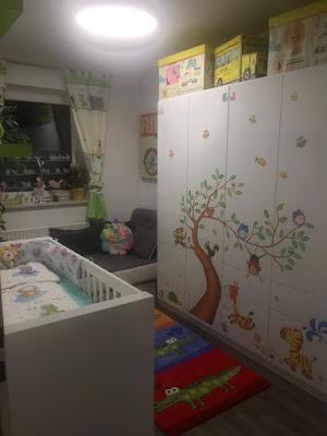 Aufkleber Babyzimmer süß Dschungel