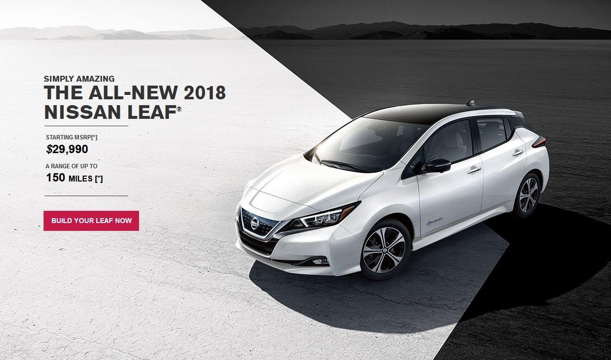 2018 Nissan Leaf Configurator Ms Blog