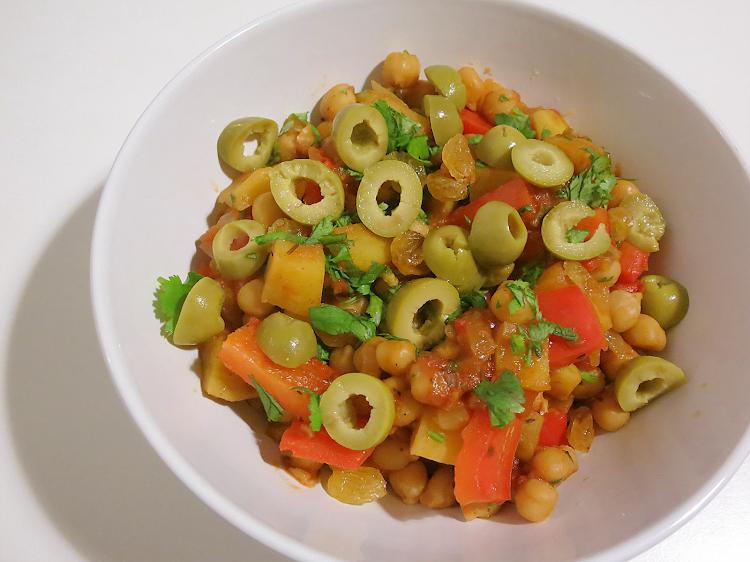 Estufado Vegetariano de Batata Doce e Grão