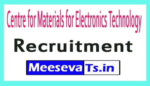 Centre for Materials for Electronics Technology CMET Recruitment