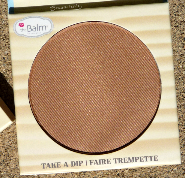 theBalm Balm Desert Bronzer/Blush: closeup of the powder in the pan