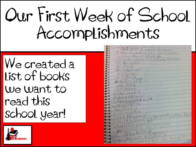 Our first week of school accomplishments - what really happened during the first week of school in my 3rd grade classroom - from Raki's Rad Resources