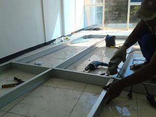 youtube cara membuat kanopi baja ringan praktis pasang dinding partisi ~ metro truss - aluminium