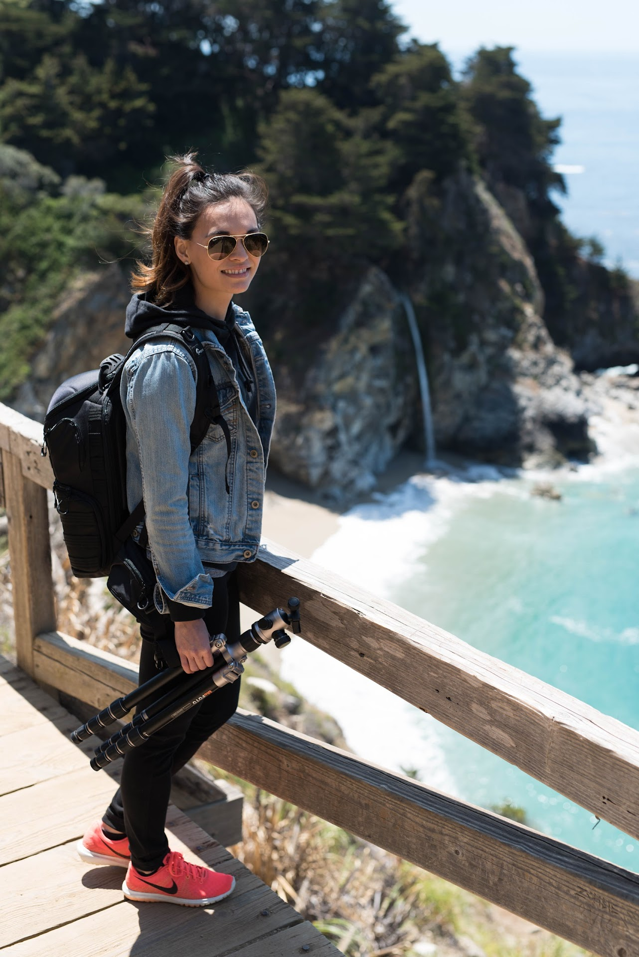 mcway falls, big sur, monterey, what to do in big sur, travel blogger, california, central coast, what to wear camping, hiking outfit ideas,