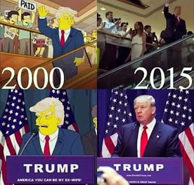Donald Trump y Los Simpson