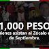 Pagan mil pesos para que asistas al Zócalo el 15 de Septiembre