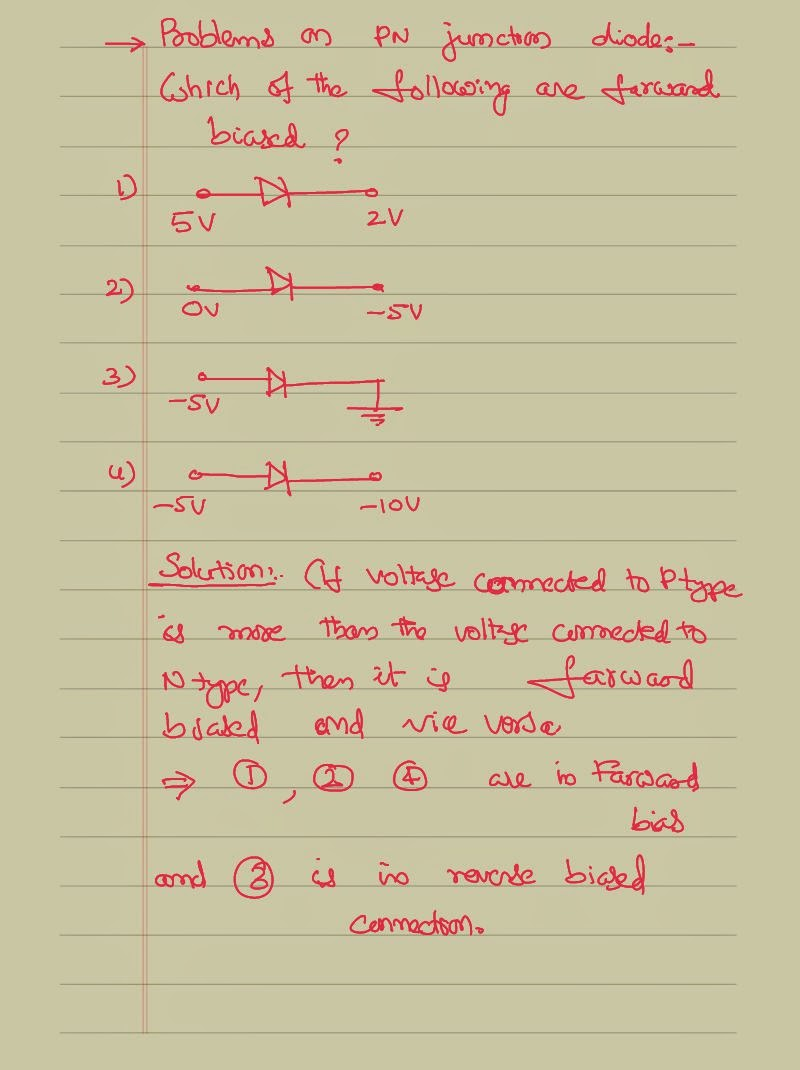 solving problems on the concept of p n junction diode venkats let us solve one more problem on the same concept in this problem calculate the current passing in the circuit