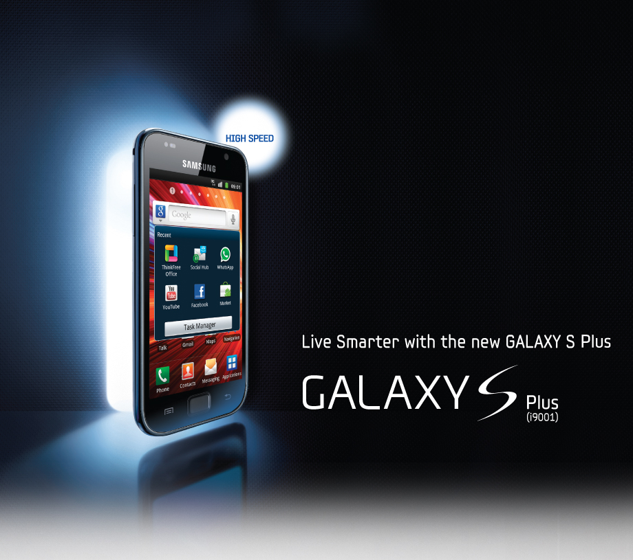 Samsung Galaxy S Plus price, pictures, features and more...