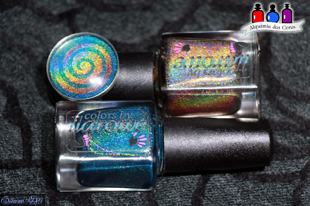Colors by Llarowe, Llarowe, teal, marrom, holographic, Holografico, holo, Stencil, Mony D07, Burnt Sugar, Sweet Revenge,