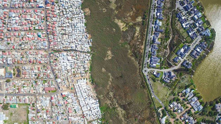 Drone Captures Photos That Perfectly Reveal The Division Between Rich And Poor