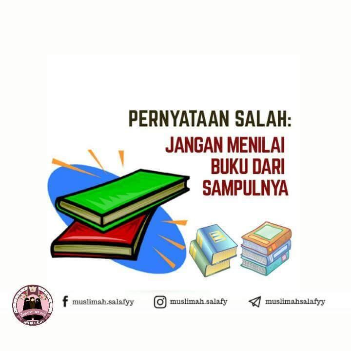 Pernyataan salah, jangan nilai buku dari sampulnya | Foto ...