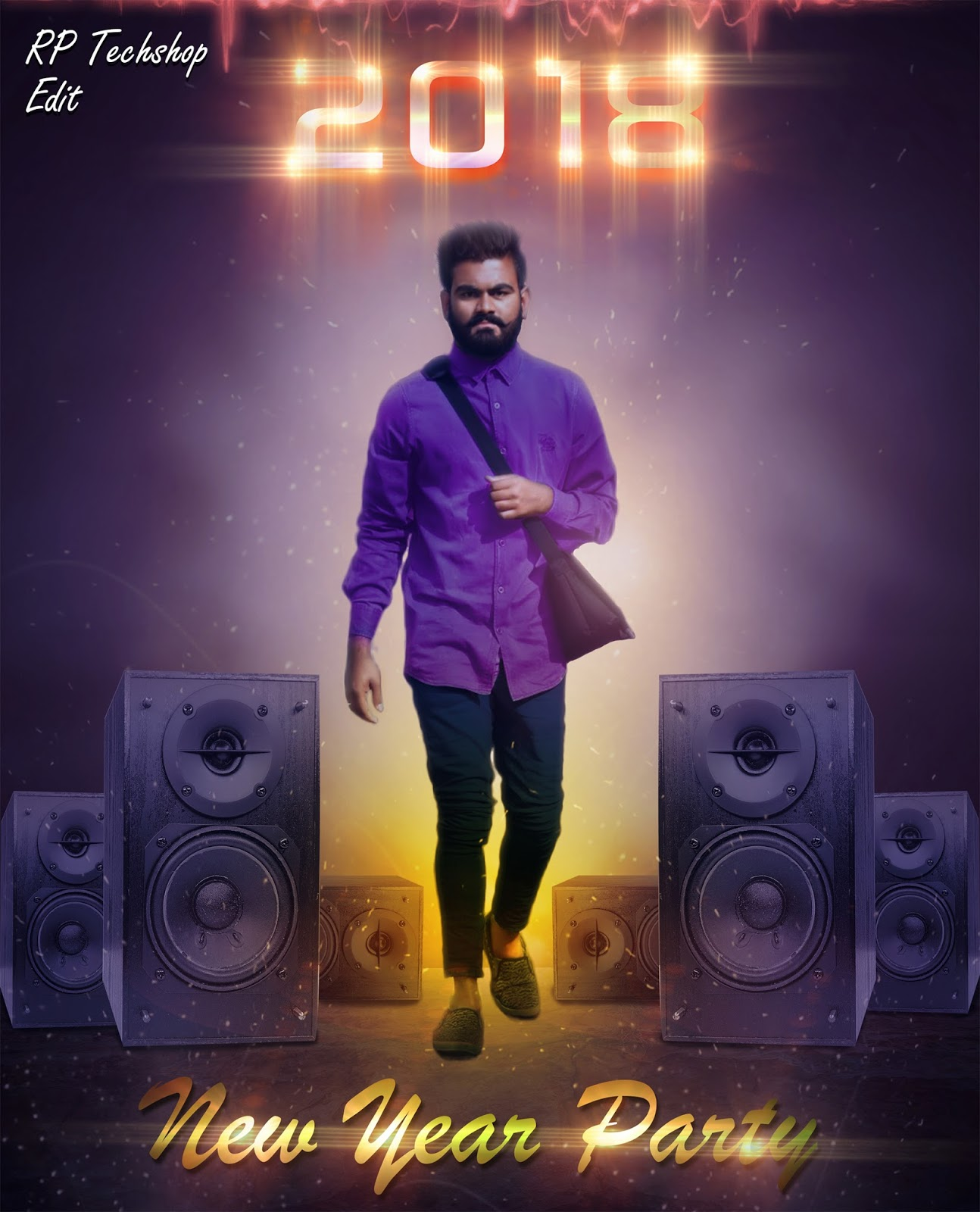 New year party poster 2018 photoshop manipulation tutorial stock baditri Gallery
