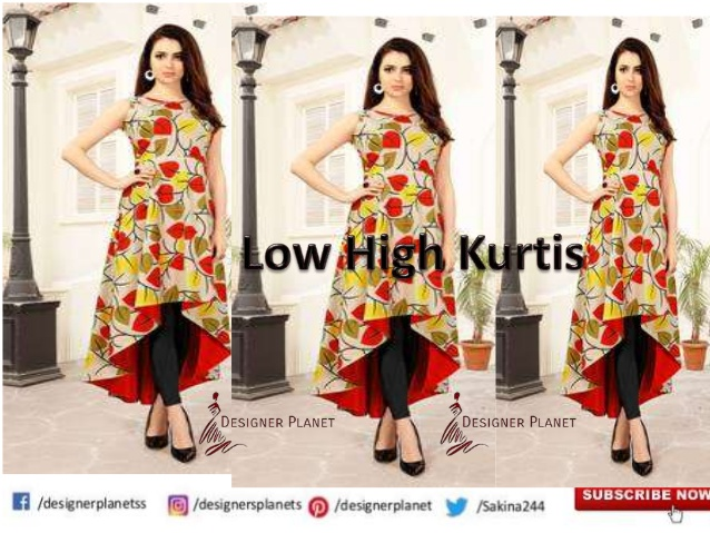 Stylish High Low kurtis Designerplanet
