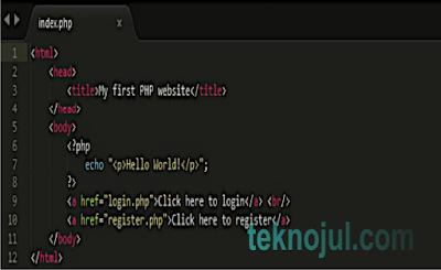 Cara membuat halaman html