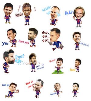 WeChat Luncurkan Stiker Animasi FC Barcelona