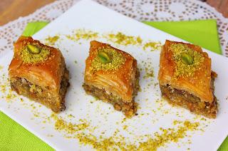 Recette du baklawa aux pistaches