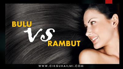 Apa Perbezaan Bulu dan Rambut?