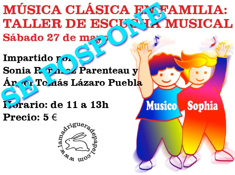TOLEDO-LIBRERÍA-LA MADRIGUERA DE PAPEL-ACTIVIDADES-TALLER DE ESCUCHA MUSICAL-MÚSICA EN FAMILIA