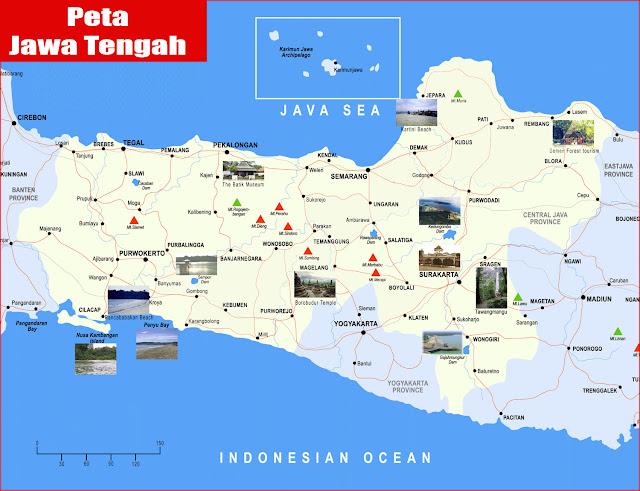 Gambar Peta Jawa Tengah