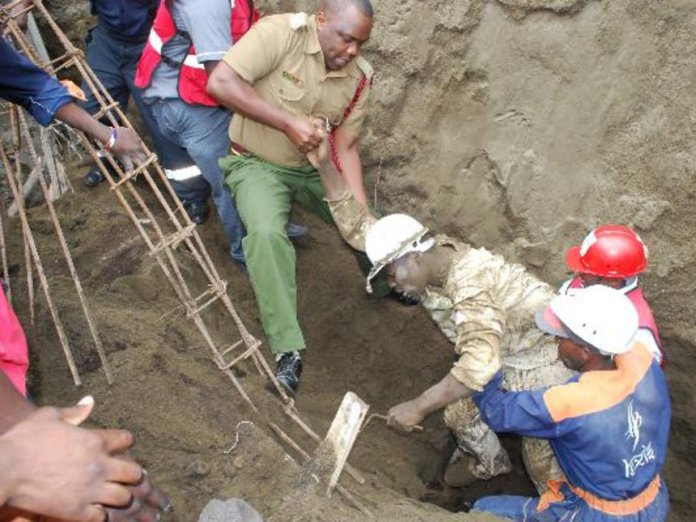 Disaster Alert: Building Collapses In Nakuru, Many Are Feared Trapped Inside