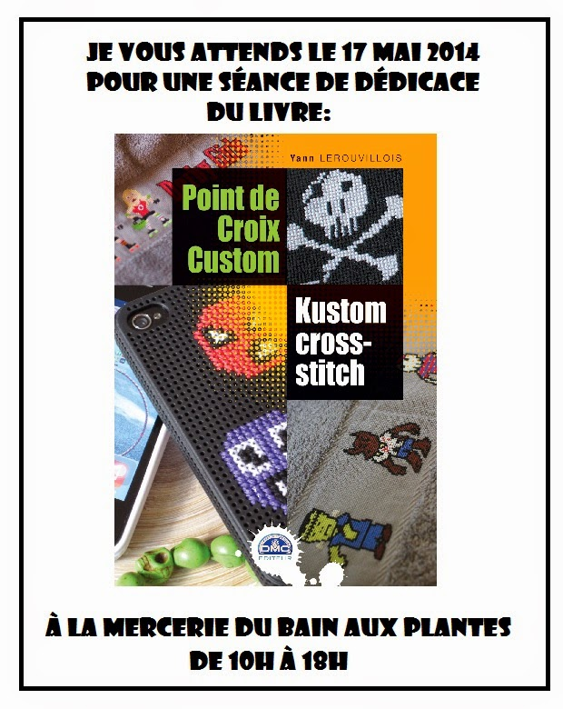 stitch trash s ance d dicace du livre point de croix custom le 17 mai 2014. Black Bedroom Furniture Sets. Home Design Ideas