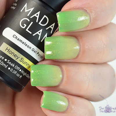 madam glam honey sunny swatch