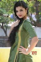 Akshitha cute beauty in Green Salwar at Satya Gang Movie Audio Success meet ~  Exclusive Galleries 004.jpg
