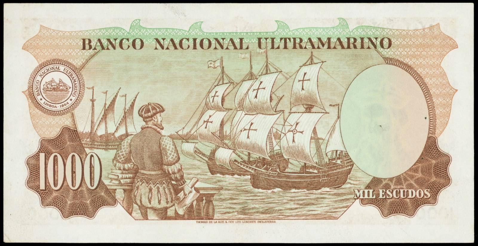 Portuguese India 1000 escudos note 1959 Banco Nacional Ultramarino