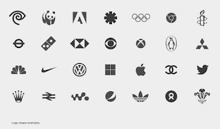 a mix of logos some are made with geometric shapes some with organic shapes and some with a combination of both
