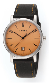 watch with orange face