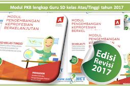 Modul PKB lengkap Guru SD kelas Atas/Tinggi tahun 2018