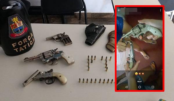 PM de São João da Boa Vista(SP) apreende armas exibidas nas redes sociais