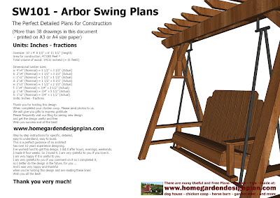 Sw101 Arbor Swing Plans Construction Graden Swing Plans Arbor Swing
