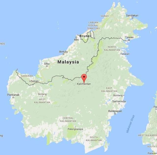 pulau kalimantan peringkat kedua pulau terbesar di Indonesia