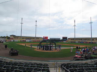 Home to center, Roger Dean Stadium