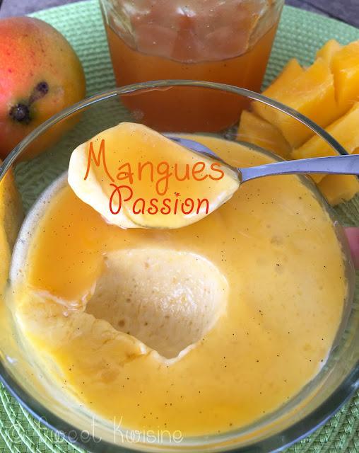 sweet kwisine, fruit de la passion, maracuja, mangue, cuisine antillaise, martinique, sans sucre ajouté, sans gluten, fruits tropicaux, mousse, crème, dessert, lait de coco