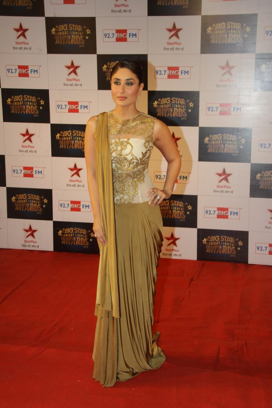 Kareena Kapoor In Brown Dress At Big Star Entertainment